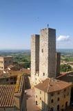 Góruje San Gimignano zdjęcie royalty free