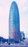 Góruje Torre Agbar w gromadzkim Poblenou Barcelona Fotografia Stock