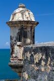 Góruje w Castillo San Felipe Del Morro, Puerto Rico Obraz Stock