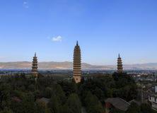 Góruje w Chongsheng świątyni i Er Hai Zdjęcie Stock
