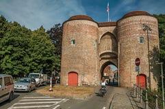 Góruje z bramą centrum miasta Bruges Obraz Royalty Free