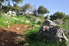 Góry ścieżki natury spacer w Carmel góry trawy @ skała widoku Obrazy Stock