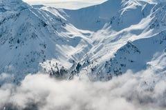 góry śnieżne pokrycia Zdjęcia Royalty Free