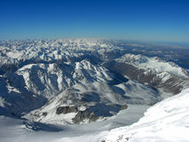 góry śnieżne pokrycia Obraz Royalty Free