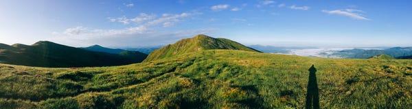 Góry światło słoneczne Fotografia Royalty Free