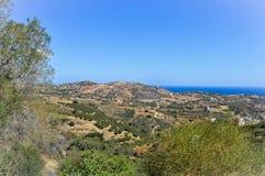 Góry agia Pelagia Zdjęcia Royalty Free