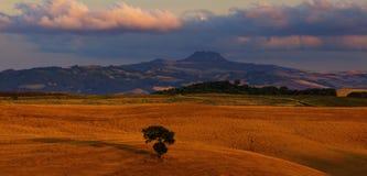 Góry Amiata panorama Zdjęcia Stock