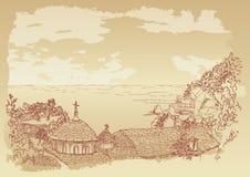 góry athos kafsokalyvia skete royalty ilustracja
