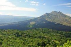 Góry Batur wulkan Bali 01 & jezioro Fotografia Stock