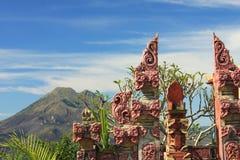 Góry Batur wulkan Bali 02 & jezioro Zdjęcia Royalty Free