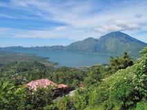 Góry Batur wulkan Bali 05 & jezioro Obrazy Stock