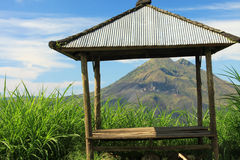 Góry Batur wulkan Bali 06 & jezioro Obraz Royalty Free
