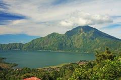 Góry Batur wulkan Bali 07 & jezioro Obrazy Royalty Free