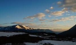 Góry Bierstadt wschód słońca zdjęcia royalty free