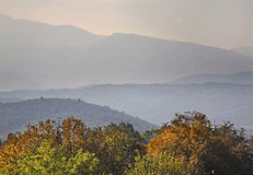 Góry blisko Gevgelija Jesień macedonia zdjęcia stock