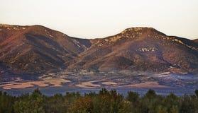 Góry blisko Gevgelija Jesień Macedoniaa Zdjęcie Stock