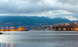 Góry blisko Rijeka miasta w Chorwacja Obrazy Royalty Free