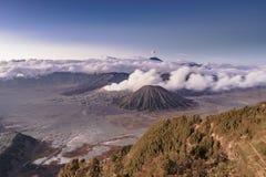 Góry BROMO antena strzelający wysoka rozdzielczość wizerunek fotografia stock