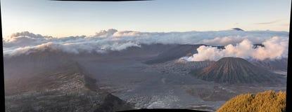 Góry BROMO krajobrazu panoramy wysoka rozdzielczość wizerunek zdjęcia stock