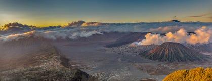 Góry BROMO panoramy wysoka rozdzielczość wizerunek fotografia royalty free