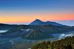 Góry Bromo wulkanu wschodu słońca widok Zdjęcie Royalty Free