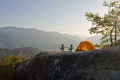 góry campingowe Obraz Royalty Free