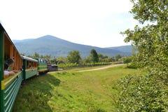 Góry Carpathians Karpacki tramwaj obraz stock
