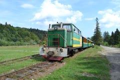 Góry Carpathians Karpacki tramwaj obrazy stock