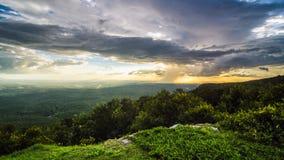 Góry Cheaha deszcz Obrazy Stock