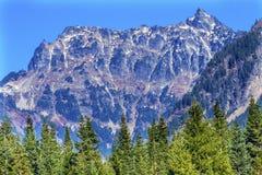 Góry Chikamin szczytu Snoqualme przepustki Wenatchee las państwowy Był Zdjęcia Royalty Free