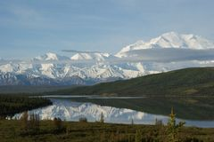 Góry denali Alaska Obrazy Royalty Free