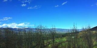 Góry dolinne na sping Obrazy Royalty Free