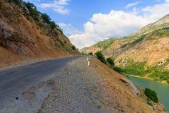 góry drogowe Natura Uzbekistan Obraz Royalty Free