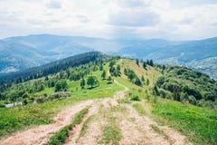 Góry drogowe wierzchołek Zdjęcia Stock
