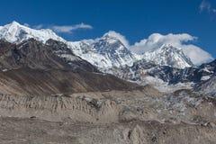 Góry Everest szczyt & x28; Sagarmatha, Chomolungma& x29; zdjęcia stock