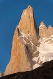 Góra Fitz Roy w wieczór słońcu Zdjęcia Stock