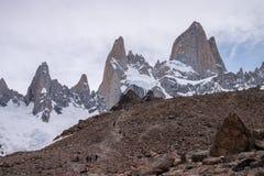 Góra Fitz Roy trekking Zdjęcia Stock