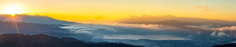 Góry Fuji wschód słońca Obrazy Royalty Free