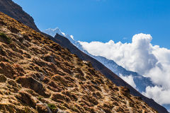 Góry grani perspektywa, trzy planu Obraz Stock