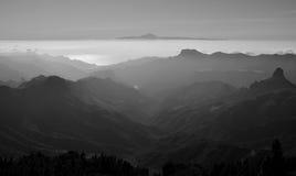 Góry Granu Canaria i Tenerife wyspa Zdjęcie Stock