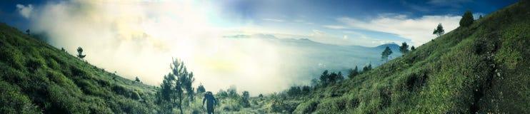 Góry Guntur wschód słońca Zdjęcia Stock