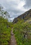 Góry Hibiny, kola półwysep, Nord, lato, zmrok chmurnieją Obraz Royalty Free