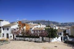 Góry Hiszpania i dachy Fotografia Stock