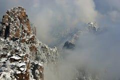 Góry Huangshan śnieg Obrazy Royalty Free