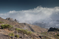 Góry i chmury Obraz Royalty Free