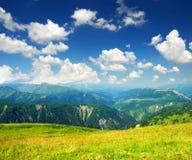 Góry i chmury obrazy royalty free