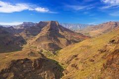 Góry i doliny Granu Canaria wyspa Zdjęcie Stock