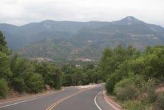 Góry i droga Obrazy Royalty Free