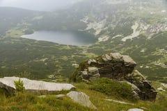 Góry i halni jeziora w Bułgaria Fotografia Stock