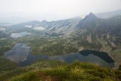 Góry i halni jeziora w Bułgaria Fotografia Royalty Free